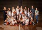 Pinedale Wranglers Girls Varsity Basketball Winter 18-19 team photo.