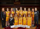 Prairie Falcons Girls Varsity Basketball Winter 18-19 team photo.