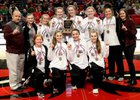 Riverside Rebels Girls Varsity Basketball Winter 18-19 team photo.