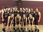 Huntsville Eagles Girls Varsity Basketball Winter 18-19 team photo.