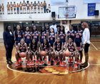 Gary West Side Cougars Girls Varsity Basketball Winter 18-19 team photo.