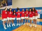 Parish Episcopal Panthers Girls Varsity Basketball Winter 18-19 team photo.