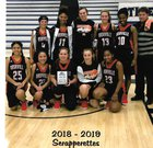 Nashville Scrappers Girls Varsity Basketball Winter 18-19 team photo.