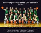 Bishop England Battling Bishops Girls Varsity Basketball Winter 18-19 team photo.