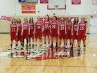 Niobrara County Tigers Girls Varsity Basketball Winter 18-19 team photo.
