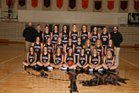 Jackson Hole Broncs Girls Varsity Basketball Winter 18-19 team photo.
