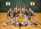 Forest Hills Rangers Girls Varsity Basketball Winter 18-19 team photo.