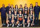 Menlo School Knights Girls Varsity Basketball Winter 18-19 team photo.