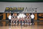 Mountain Vista Golden Eagles Girls Varsity Basketball Winter 18-19 team photo.
