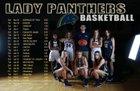 Sandusky Central Catholic Panthers Girls Varsity Basketball Winter 18-19 team photo.