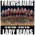 Frewsburg Bears Girls Varsity Basketball Winter 18-19 team photo.