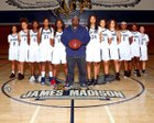 Madison Warhawks Girls Varsity Basketball Winter 18-19 team photo.