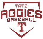Tate Aggies Boys Varsity Baseball Spring 17-18 team photo.