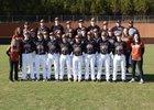 Lanier Longhorns Boys Varsity Baseball Spring 17-18 team photo.