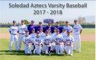 Soledad Aztecs Boys Varsity Baseball Spring 17-18 team photo.