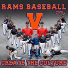 Valley Rams Boys Varsity Baseball Spring 17-18 team photo.