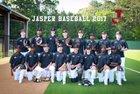 Jasper Bulldogs Boys Varsity Baseball Spring 17-18 team photo.
