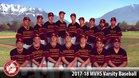 Mountain View Bruins Boys Varsity Baseball Spring 17-18 team photo.