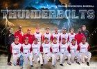 Manual Thunderbolts Boys Varsity Baseball Spring 17-18 team photo.