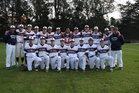 Stuart Hall Knights Boys Varsity Baseball Spring 17-18 team photo.