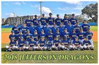Jefferson Dragons Boys Varsity Baseball Spring 17-18 team photo.