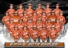 Eagle Pass Eagles Boys Varsity Baseball Spring 17-18 team photo.