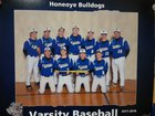 Honeoye Bulldogs Boys Varsity Baseball Spring 17-18 team photo.