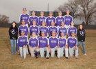 Manzano Monarchs Boys Varsity Baseball Spring 17-18 team photo.