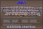 Madison Central Jaguars Boys Varsity Baseball Spring 17-18 team photo.