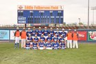 Los Lunas Tigers Boys Varsity Baseball Spring 17-18 team photo.