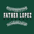 Father Lopez Green Wave Boys Varsity Baseball Spring 17-18 team photo.