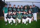 Ridgefield Christian Warriors Boys Varsity Baseball Spring 17-18 team photo.