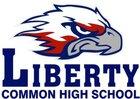 Liberty Common Eagles Boys Varsity Baseball Spring 17-18 team photo.