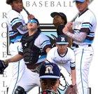 Roosevelt Mustangs Boys Varsity Baseball Spring 17-18 team photo.