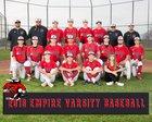 Empire Ravens Boys Varsity Baseball Spring 17-18 team photo.