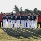 Eastern Christian HomeSchool Trailblazers Boys Varsity Baseball Spring 17-18 team photo.