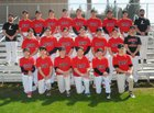 Liberty Lancers Boys Varsity Baseball Spring 17-18 team photo.
