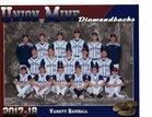 Union Mine Diamondbacks Boys Varsity Baseball Spring 17-18 team photo.