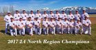Providence Hall Patriots Boys Varsity Baseball Spring 17-18 team photo.