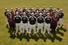 Huntsville Eagles Boys Varsity Baseball Spring 17-18 team photo.