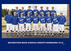 Rochester Warriors Boys Varsity Baseball Spring 17-18 team photo.