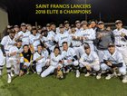 Saint Francis Lancers Boys Varsity Baseball Spring 17-18 team photo.