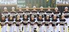 Manila Lions Boys Varsity Baseball Spring 17-18 team photo.