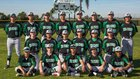 Hilltop Lancers Boys Varsity Baseball Spring 17-18 team photo.