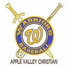Apple Valley Christian Warriors Boys Varsity Baseball Spring 17-18 team photo.