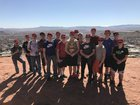 Melba Mustangs Boys Varsity Baseball Spring 17-18 team photo.