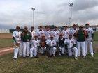 Adams City Eagles Boys Varsity Baseball Spring 17-18 team photo.