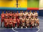 KIPP Austin Collegiate Cardinals Boys JV Basketball Winter 17-18 team photo.