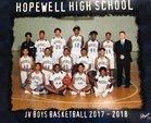 Hopewell Blue Devils Boys JV Basketball Winter 17-18 team photo.