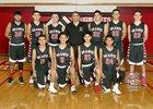 Grants Pirates Boys JV Basketball Winter 17-18 team photo.